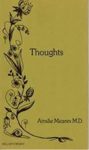 Thoughts by Dr A Meares